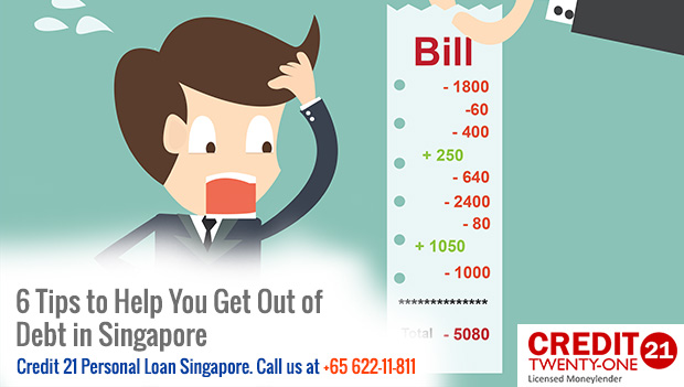 6 Tips to Help You Get Out of Debt in Singapore