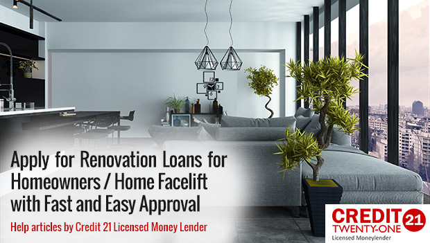 Apply for a Singapore Renovation Loan 2018 for Homeowners Fast and Easy Approval
