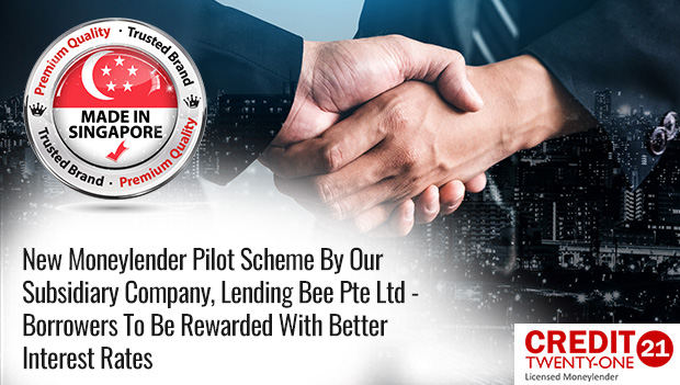 Borrowers Rewarded With Better Interest Rates With New Moneylender Pilot Scheme Business Model by Our Subsidiary Company, Lending Bee Pte Ltd