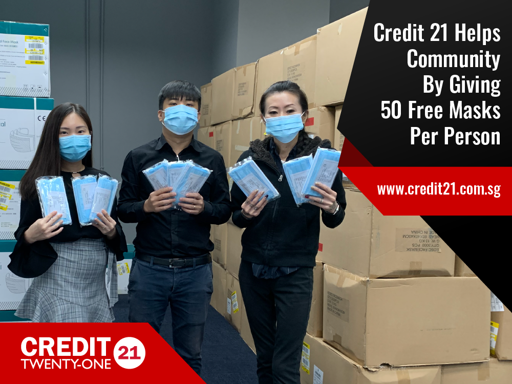 Credit 21 Helps Community By Giving 50 Free Masks To Anyone Who Walks In (Singapore 2020)