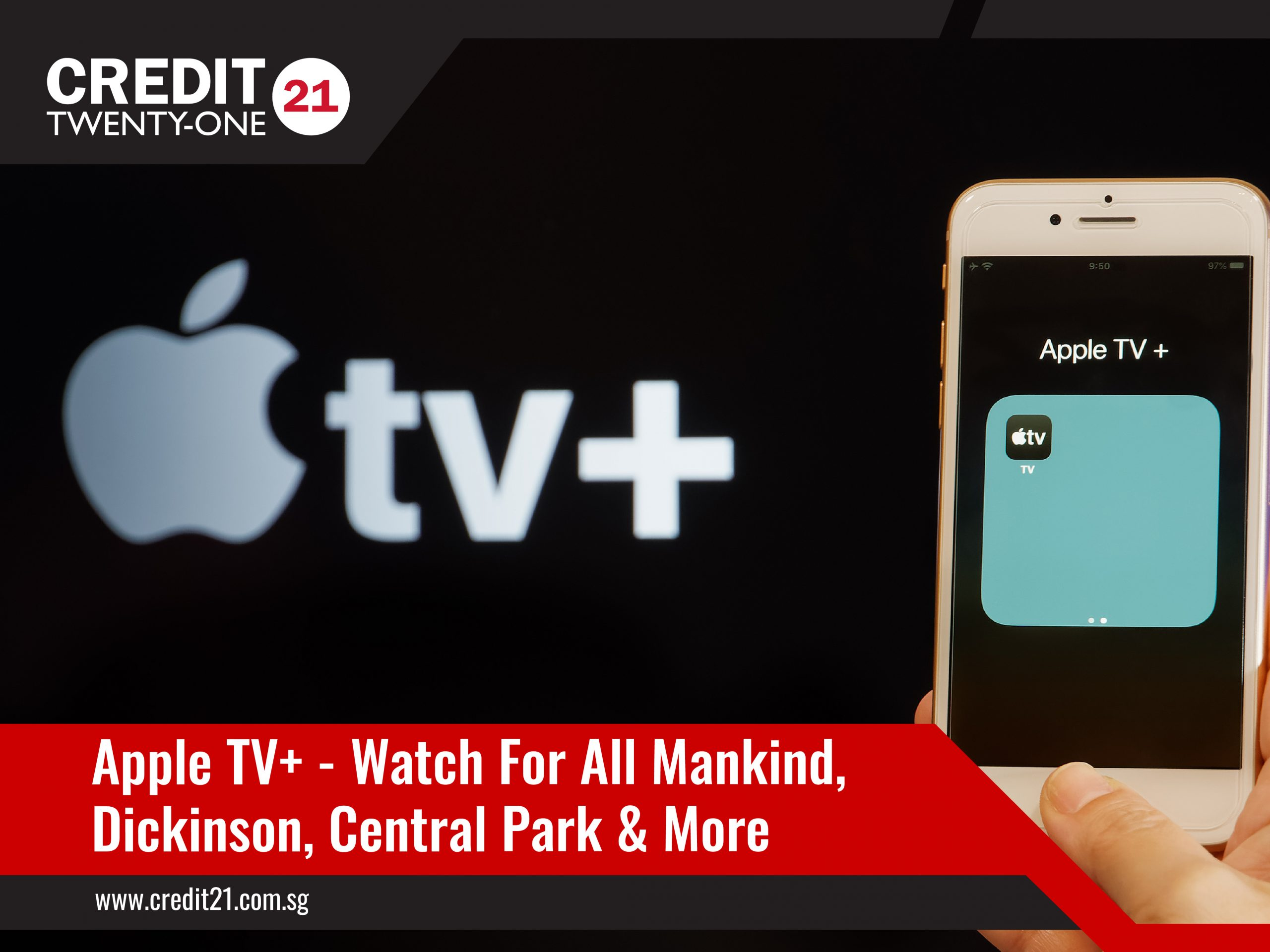 Watch Apple TV For All Mankind, Dickinson,Central Park Credit 21 TV Streaming Services Singapore